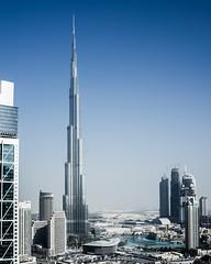The Burj Khalifa (Ben Zavala) Tags: 2016 benzavala burjkhalifa city citylights dubai night skyline skyscrapers sonya7