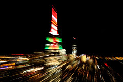 Manhattan Skyline at Night (ej.hindle) Tags: empirestatebuilding manhattan newyork lights movement america usa rockefellercentre