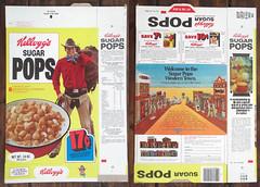 Vintage 1976 Kellogg's Sugar Pops Cereal Box Western Cowboy (gregg_koenig) Tags: vintage 1976 kelloggs sugar pops cereal box western cowboy 70s 1970s