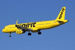N665NK | Airbus A321-231/W | Spirit Airlines (cv880m) Tags: newyork laguardia lga klga queens n665nk airbus a321 321200 321231 winglet spirit spiritairlines homeofthebarefare banana sharklet 322