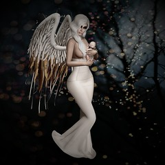 Everlasting Light (Magdalena J.K.) Tags: 3d secondlife wings winter baby bebe bb light everlasting love mother child hope beauty life bokeh sagan