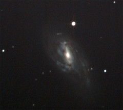 M66 30-12-2016 DSS stack size 267 ISO 1600 Exp 15s best 90 percent of score above100 from IMG 9867 to 9386 Autosave024pscrop. (vinkev) Tags: m66 galaxy leo