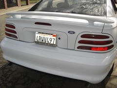 Painted Rear Bumper on White Ford