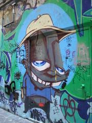 Character (littlegirllost) Tags: street city urban art graffiti stencil arcade melbourne centreplace