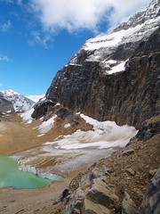 Edith Cavell Ice (Matt Champlin) Tags: light sky mountain lake snow canada color ice nature landscape nationalpark 2006 glacier environment jaspernationalpark keepexploring