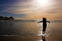 Jumping into the sea (fd) Tags: ocean california beach childhood silhouette pier pacific 1870mmf3545g huntingtonbeach lightproofboxcom