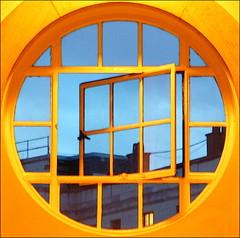 bush window (chirgy) Tags: blue orange london window bush squaredcircle bushhouse interestingness111 i500