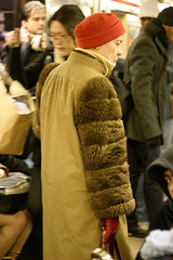 20060303D_6407e.jpg (jcn) Tags: nyc hat subway fur furcoat beararms