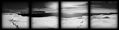 A Snowy Panoramic of Lake Huron (Adam Holte) Tags: blackandwhite bw water photoshop michigan panoramic nikond70s lakehuron tamronaf18200mmf3563