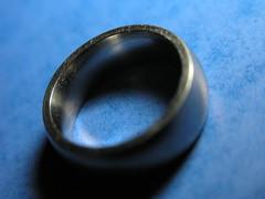 ring macro - 270106 - 002 (limowreck666) Tags: blue wedding macro closeup silver engagement close finger band ring titanium macrophoto macrophotography