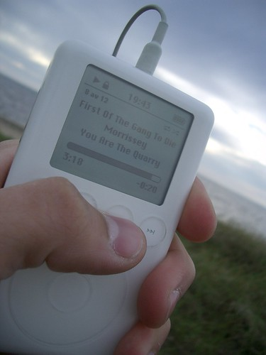 Morrisey and me at the beach
