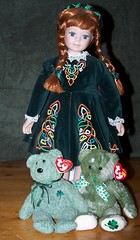 St. Paddy's Day (makeupanid) Tags: irish doll shamrocks stpatricksday teddybears irishdancing quickpost