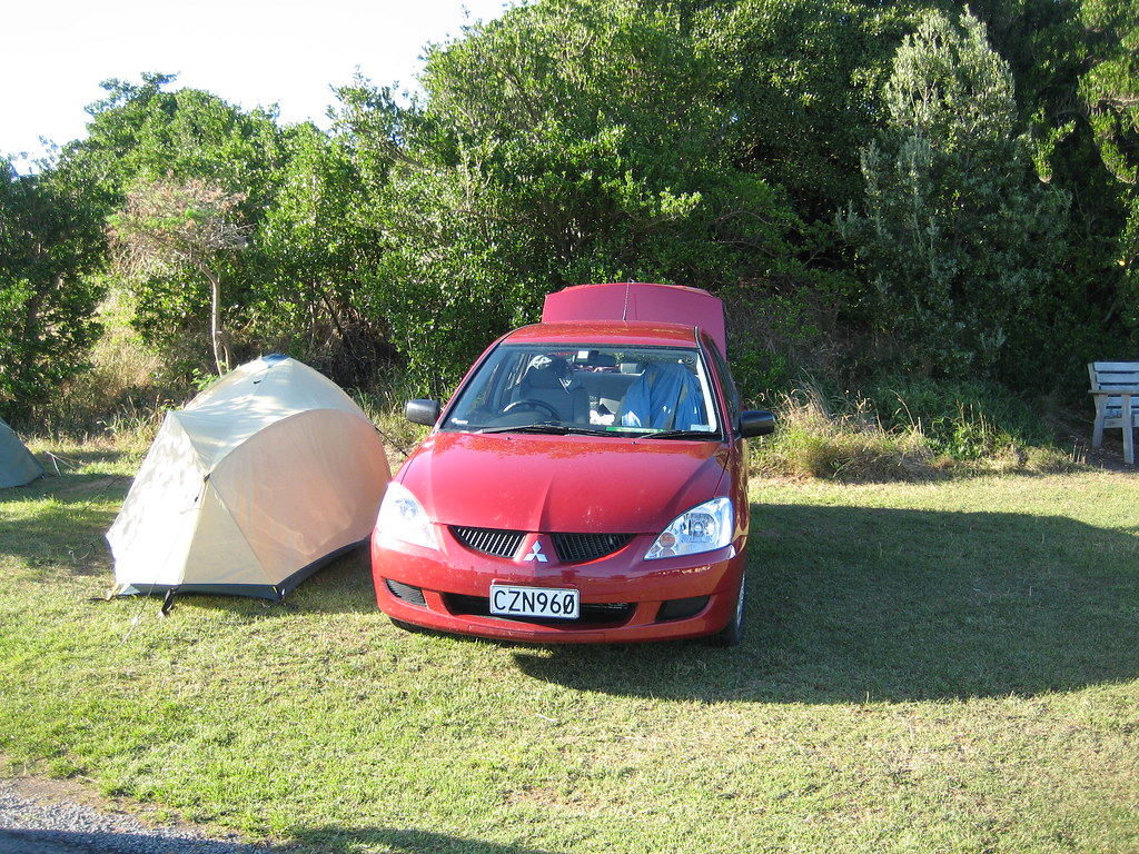 Our Tent and Rental Car
