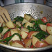 Potatoes and Peppers with Spinach
