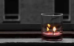 candle (UmX) Tags: wallpaper bw candle flame