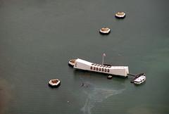 USS Arizona Memorial (gooskimo) Tags: ocean sea arizona usa water japan america japanese hawaii harbor memorial ship oahu flag wwii navy americanflag oil pearlharbor pearl battleship uss 1941 bombing ussarizona ussarizonamemorial december71941