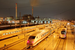ICE-Train station (Dietrich Bojko Photographie) Tags: berlin industry ice station night d50 landscape iso800 searchthebest webinteger nikond50 dri icetrain 30mm nikkor1855mm spectnight