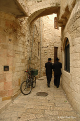 Jewish Men in Old City Alley (chadly7) Tags: alley jerusalem middleeast utata holyland oldcity orthodoxjew jewishmen
