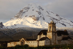 Sajama and Church (Alexander Yates) Tags: travel mountain snow church southamerica nature ilovenature topv333 bolivia andes writer novelist sajama topvaa travelwriter alexanderyates