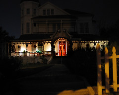 Quiet Night (snapscot) Tags: houses architecture night victorian structures historic historical afterdark sierramadre pinneyhouse thepinneyhouse