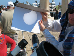 Solar eclipse projection (╬Thomas Reichart ╬) Tags: solar eclipse telescope projection total