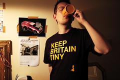 Keep Britain Tiny (deathgob) Tags: uk black yellow print death office northampton tea britain tshirt tiny mug keep brew reg tee dg gob gulp deathgob