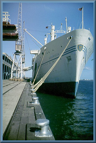 Melbourne Harbour  Ship Australia 1959