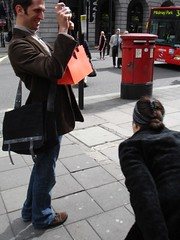 Taking a photograph (Drift Words) Tags: london duck picadilly postbox metaphotography