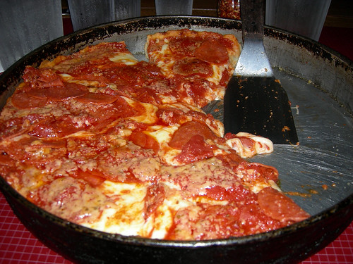 Large Pepperoni Deep Dish Chicago style pizza!