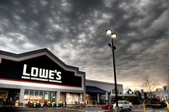 Lowe's lookin' all dramatic (J. Star) Tags: sunset storm lowes hdr highdynamicrange stormclouds