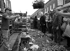 Catch 3 (Dave Gorman) Tags: uk portrait people blackandwhite bw london sunday hackney flowermarket eastend bethnalgreen eastlondon columbiaroad e2
