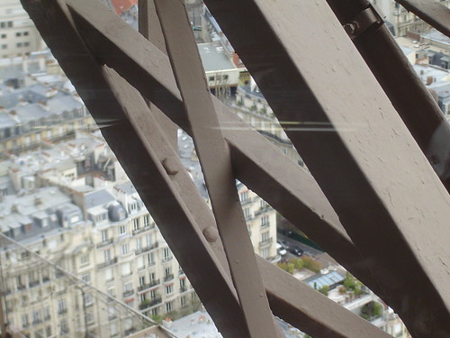 View from 153 meters above the ground level (Restaurant Jules Verne - Tour Eiffel)