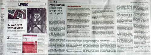 Article about Flickr in the Oregonian