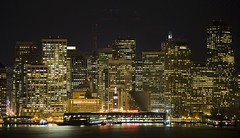 Minutes Away and Miles Apart (Thomas Hawk) Tags: sanfrancisco california city usa topf25 night lights cityscape unitedstates fav50 10 unitedstatesofamerica fav20 financialdistrict ferrybuilding fav30 bulding fav10 fav25 fav40 fav60 fav70 superfave