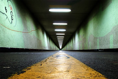 Underworld (idogu) Tags: 15fav yellow dark landscape zurich perspective pedestrian tunnel streetscape flickrhits enge xxxxx 100paces 1show zhdomino websetfavorite selectshow