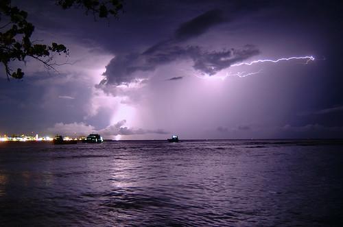 lightning over the capital cit...
