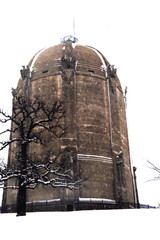 tower in snow (mhartford) Tags: winter snow minneapolis spotmatic harrywildjones washburnwatertower