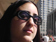 very capote of her (Schnittke) Tags: portrait building girl face sunglasses capote disdain