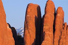 LaSal Mtns. (Hoot1) Tags: sunset red mountains color landscape ilovenature utah nationalpark desert scenic arches moab specnature
