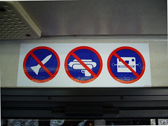 No Rockets, No Ray Guns, No Robots! (The Rocketeer) Tags: sign airport dallasfortworth robots shuttle dfw rockets raygun