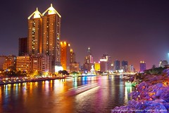 Love River Night View from Chung Cheng Bridge, Kaohsiung (Fishtail@Taipei) Tags: night taiwan kaohsiung myfavorite   loveriver