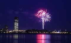 Buffalo Fireworks from the Canadian Side (Gregory Pleau) Tags: city newyork ontario reflection skyline night geotagged buffalo lakeerie geocaching waterfront pentax fireworks niagara greatlakes citylights cropped optio niagarariver transcanadatrail forterie buffalonewyork fterie interestingness403 i500 geo:tool=yuancc explore230406 tctrail geo:lat=42894139 geo:lon=78921876 gchg43 gregorypleau