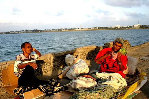 resting fishermen