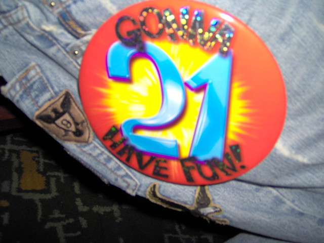 21st Birthday Badge