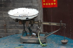 Weighing scales (J-Hob) Tags: china john leaf vegetable scales pingyao weighing johnhobson johnhobsonphotographycom