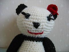 PANDA- (mieux mix) Tags: white black panda crochet amigurumi crocheted