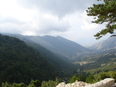 View down the valley (net_efekt) Tags: travel panorama mountains view adventure valley vista aussicht albania tal vlora albanien tahl