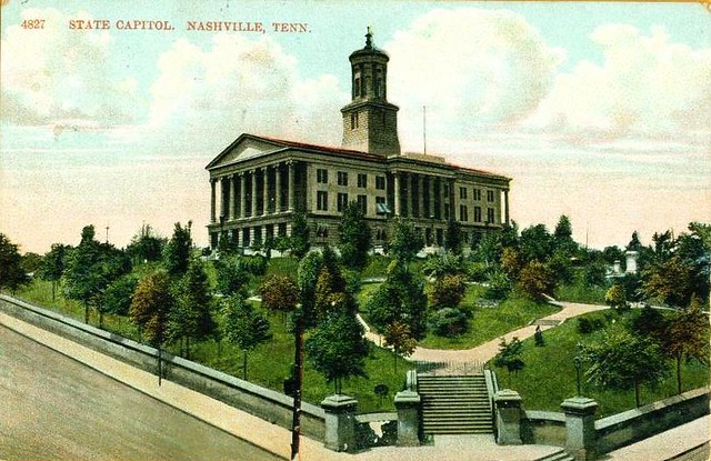 1908 post card of the state capitol