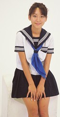 Junko Fukuda school uniform (shiroibasketshoes hopper) Tags: school cute japan uniform pretty actress seifuku junkofukuda