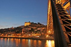 Douro at night (@Visual_Mind) Tags: city travel bridge sunset portugal river landscape town porto lusco fusco oporto professionalphotographer pereira miguelpereira topphotoblog wwwmiguelpereiraes